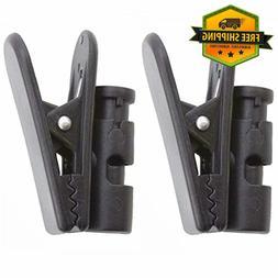 AOER 2 Packs Cable Clip Clamp Hooks for Earpiece Headphone E