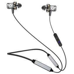 3 Dynamic Driver Headphone Earbuds Wireless Bluetooth Neckba