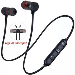 5.0 Bluetooth Earphone Sports Neckband Magnetic Wireless Ste