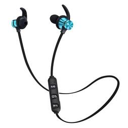 5.0 bluetooth earphone sports neckband magnetic wireless ear
