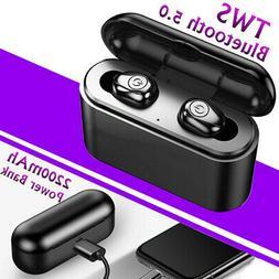 5.0 Bluetooth Wireless Headset Earbuds Stereo Sports Headpho