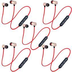 5-Pack Sweatproof Bluetooth Earbuds Sports Wireless Headphon