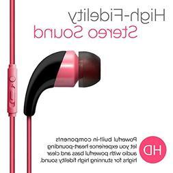 pink color universal handsfree stereo earphone 3