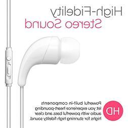 BargainPort White Color Universal Handsfree Stereo Earphone