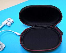 Black Zipper Earphones Carrying Case for Beats Monster by Dr