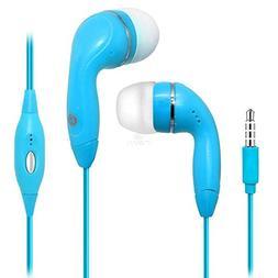 Blue Color 3.5mm Audio Earphone Headphones Headset Earbuds W
