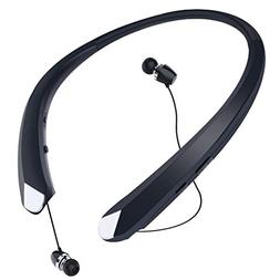 Bluetooth Retractable Headphones, Wireless Earbuds Neckband