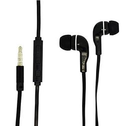 3.5mm Black Audio Earphone Headphones Headset Earbuds Volume