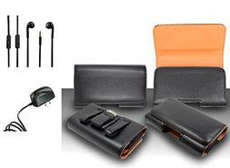 For Samsung Galaxy S7 Edge  Premium Classic Black Pebble Tex