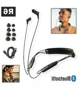 Klipsch - R6 Neckband Wireless Earbud Headphones - Black