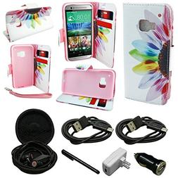 Mstechcorp - HTC One M9 Hima -  HTC One M9 Wallet  Case Prem