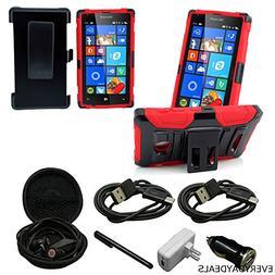 Mstechcorp - Microsoft Lumia 435 T-Mobile, Hybrid Armor Case
