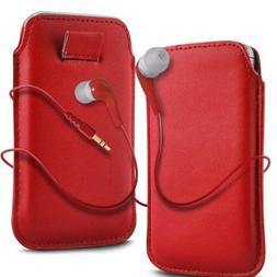 "N4U ""Cases To Go"" Range Red Superior Pu Leather Pull Flip Ta"