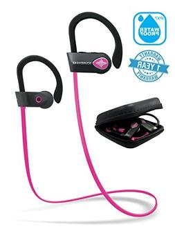 Pink Headphones, Wireless Earphones Bluetooth. SoundWhiz Tur