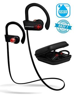 SoundWhiz Bluetooth Running Headphones, Wireless Workout Ear
