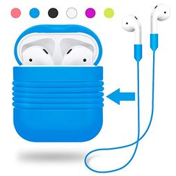 Airpods Case, Airpods Strap, Silicone Skin Case Shock Proof