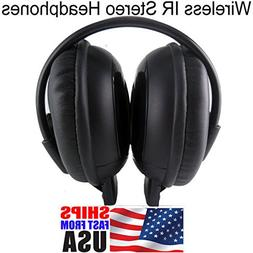 AUTO-OFF IR infrared Wireless headphone earphone IN CAR