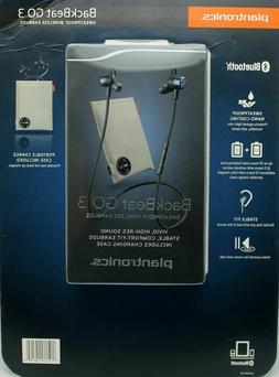 Plantronics BackBeat GO 3 Sweatproof Wireless Earbuds +Charg
