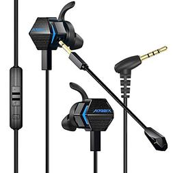 BENGOO Gaming Earbuds with Dual Mic Deep Bass Vibration for
