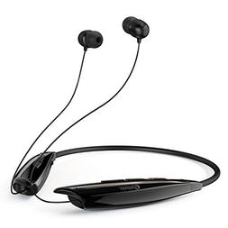 Phaiser BHS-950 Bluetooth Headphones, Retractable Neckband E