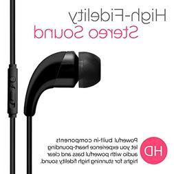 black color universal handsfree stereo earphone 3