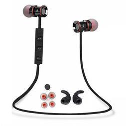 Black -HU54 In-Ear Wireless Sports Bluetooth Headphone Earbu