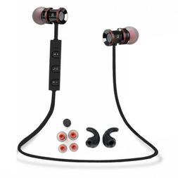 Black -LS54 In-Ear Wireless Sports BT Headphone Earbuds Head