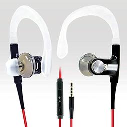 BargainPort Black/Red Color Universal Handsfree 3.5mm Audio