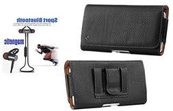 Black Soft Leather Case Holster Pouch Belt Loop/Belt Clip Su