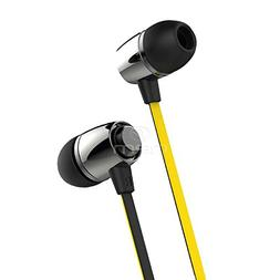 BargainPort Black/Yellow Color Headphone Universal Hands-fre