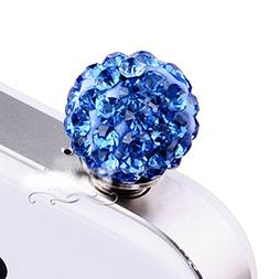 G.G.Martinsen Blue CZ Diamond ball dustproof plug earphone p