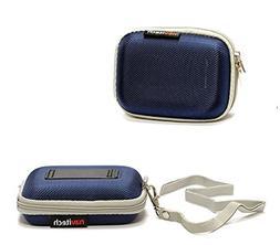Navitech Blue Hard Protective Earphone / Headphone Case for
