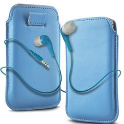 "N4U ""Cases To Go"" Range Blue Superior Pu Leather Pull Flip T"