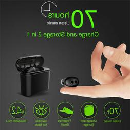 Bluetooth 4.1 Mini True Wireless Earbud In-Ear Stereo Earpho