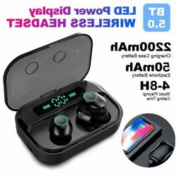 Bluetooth 5.0 Headset Twins Wireless Earphones Mini Stereo H