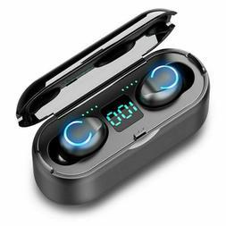 Bluetooth 5.0 Headset Wireless Headphones Earbud Earphones F