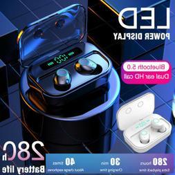 Bluetooth 5.0 Wireless Earbuds Headset TWS Earphones Mini St
