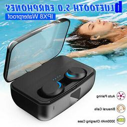 bluetooth 5 0 wireless earbuds stereo swimming