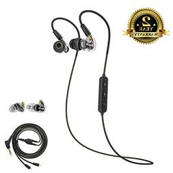 Bluetooth Headphones Sport, A8s Dual Driver Musician's In Ea