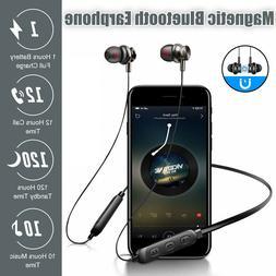 Bluetooth Earphones Wireless Neckband Headphones Earbuds Mic
