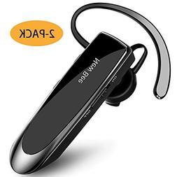 Bluetooth Earpiece Wireless Handsfree Headset New Bee 2Packs