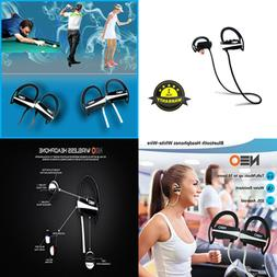 Bluetooth Headphones BLACK Wire W Advanced Features Wireless