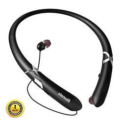 Bluetooth Headphones Bluenin Neckband Retractable Wireless H