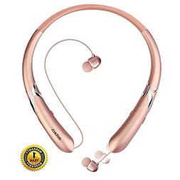 Bluetooth Headphones DolTech Retractable Earbuds Neckband Wi