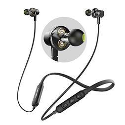 Bluetooth Headphones, AWEI Wireless Neckband Headset, Dual D