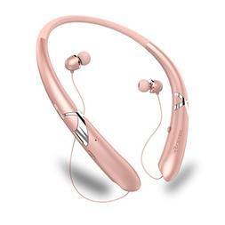 LSCHARM Bluetooth Headphones Retractable Earphones Neckband