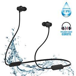 Sport Bluetooth Headphones Waterproof, Noise Cancelling Wire