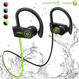ANBES Bluetooth Headphones Wireless Earbuds, IPX7 Waterproof