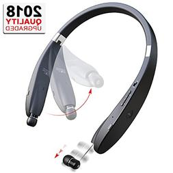 Bluetooth Headphones Wireless Neckband Headset - Sweatproof