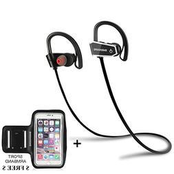 Bluetooth Headphones Wireless Headphones Running Earbuds Mic